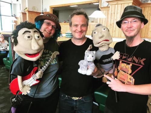 Ween puppets meet Dave Redmond, WA 2017